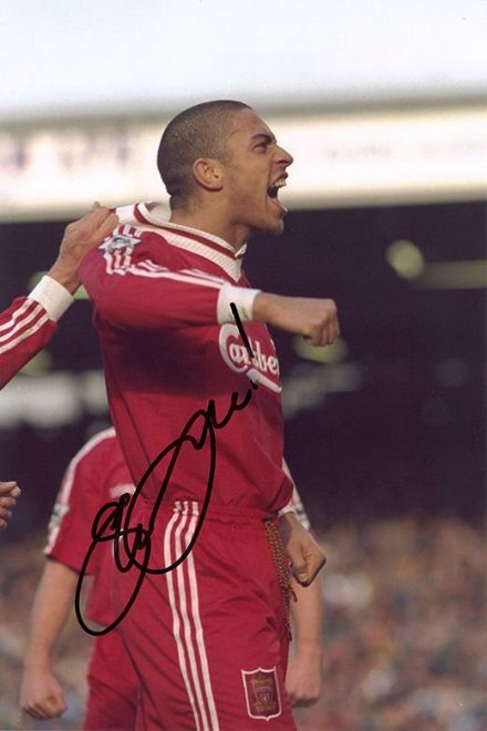 Stan Collymore, Liverpool & England, signed 12x8 inch photo.